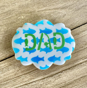 Dad Fishing Cookie Stencil bakeartstencil