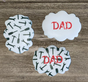 Dad Tools Cookie Stencil bakeartstencil