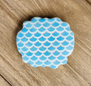 Fish Scale Pattern Cookie Stencil bakeartstencil