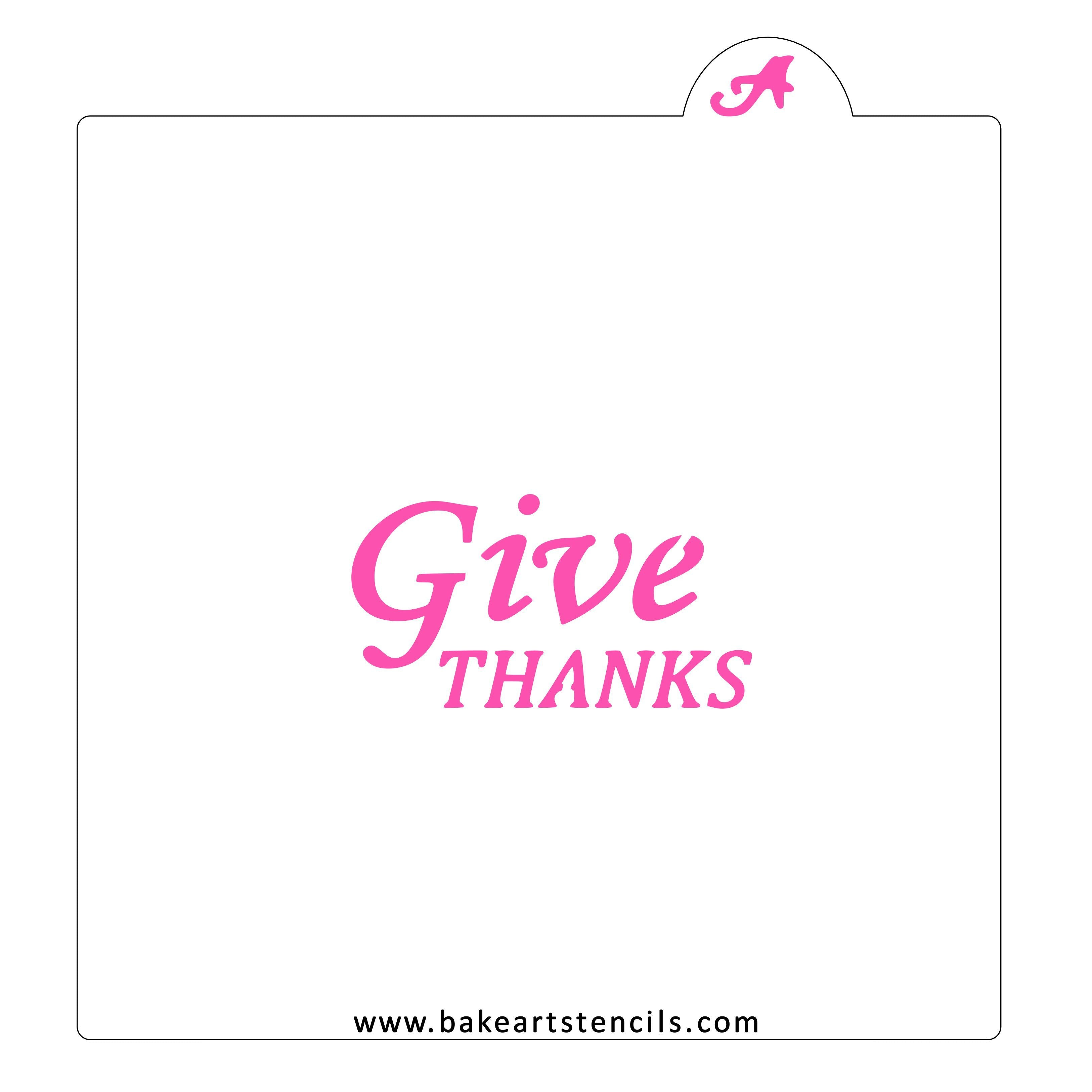 art Give Thanks with a Grateful Heart food safe stencil mixed media background cookie MESH stencil Stencil cakes baking