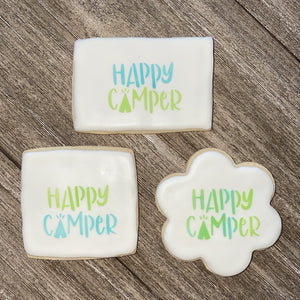 Happy Camper Cookie Stencil bakeartstencil