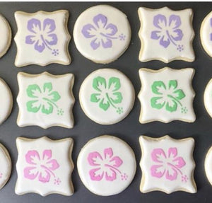 Hawaiian Flower Cookie Stencil bakeartstencil
