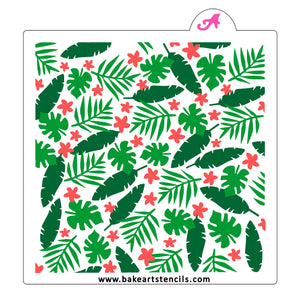Jungle Burst Cookie Stencil Set bakeartstencil