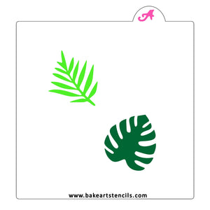 Jungle Leaves Cookie Stencil bakeartstencil