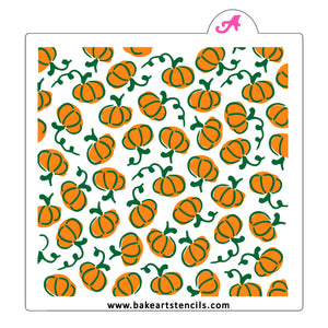 Painted Pumpkins Cookie Stencil Set bakeartstencil