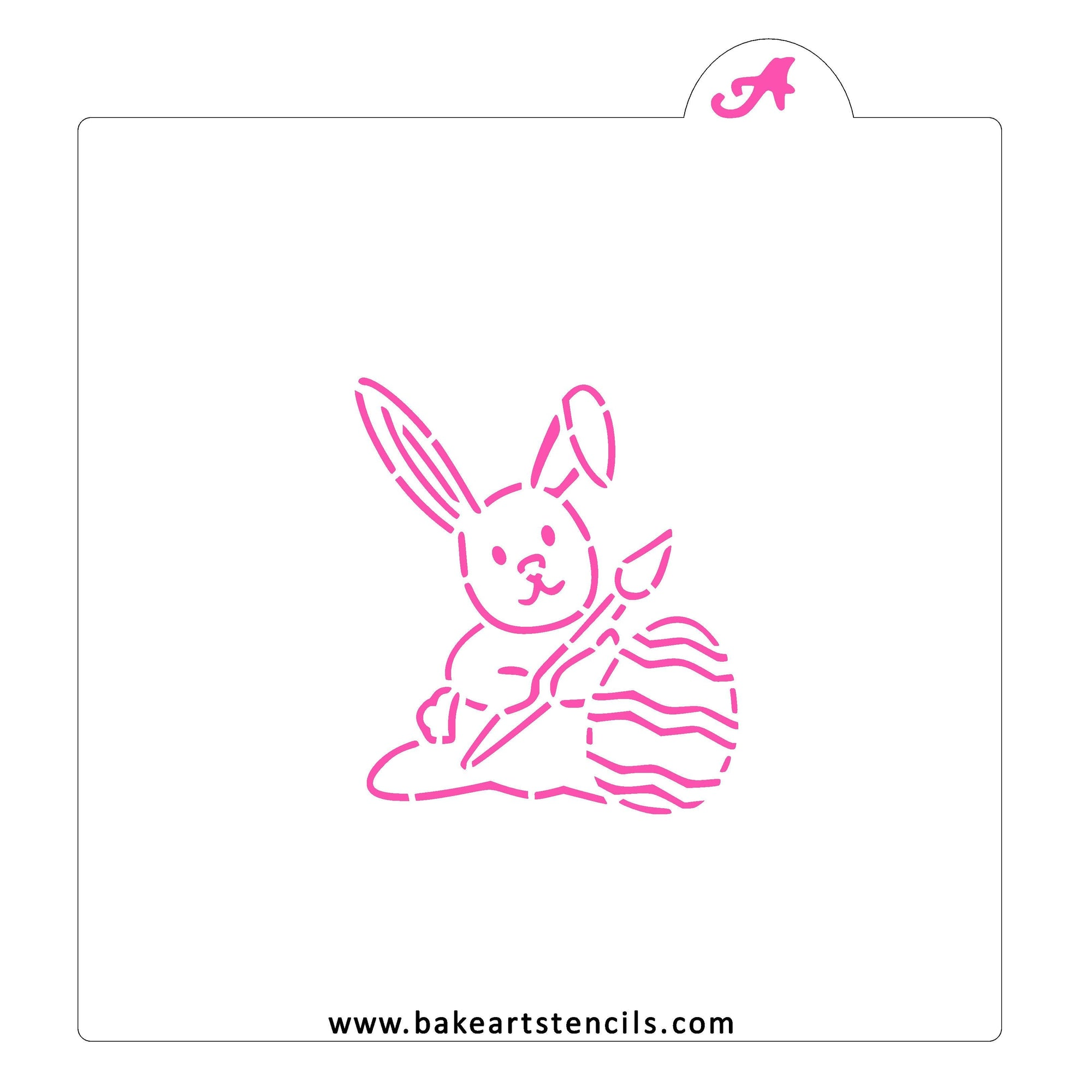 Painting Easter Bunny PYO Stencil bakeartstencil
