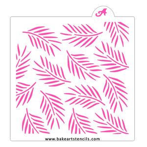 Palm Leaves Pattern Stencil bakeartstencil