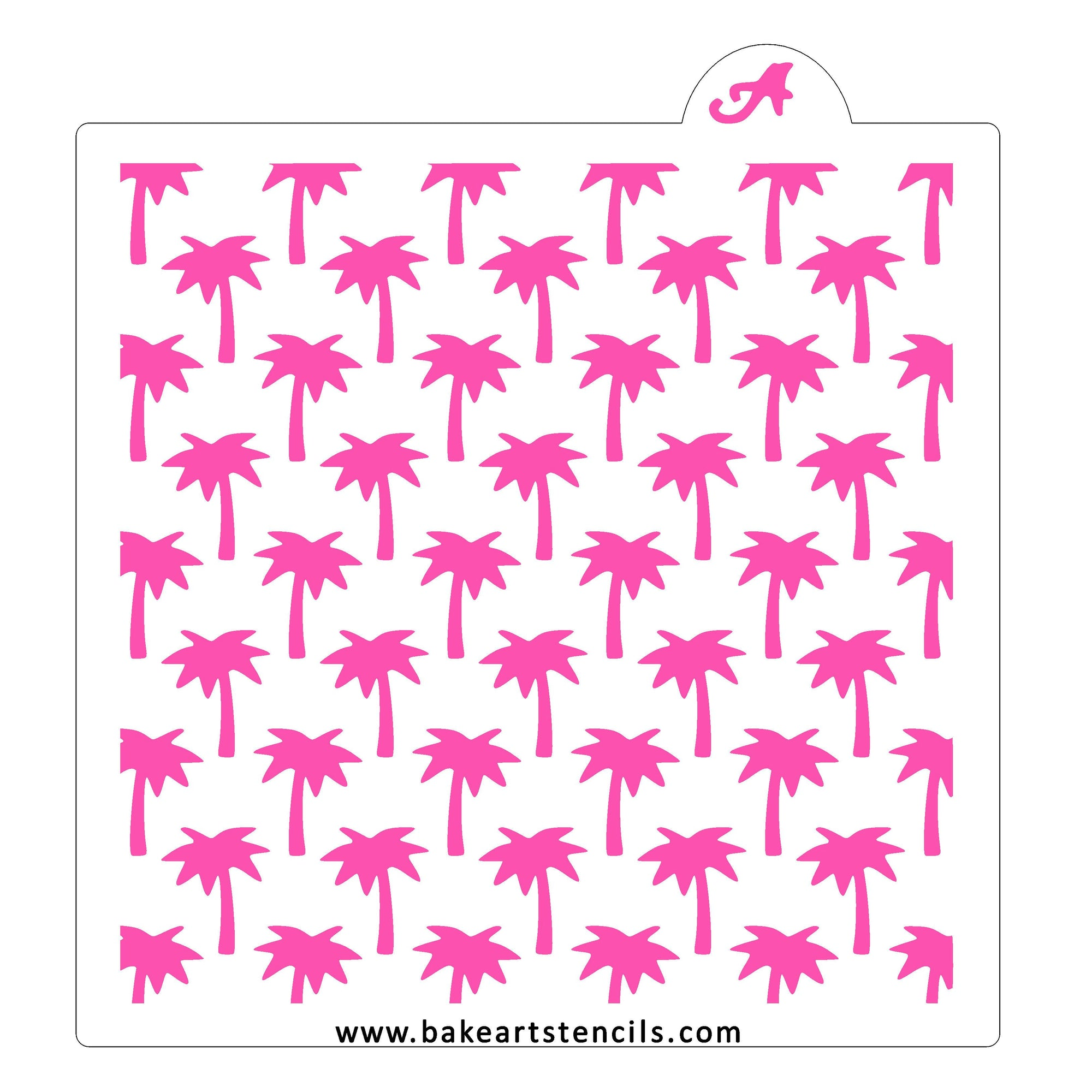 Palm Tree Pattern Stencil bakeartstencil