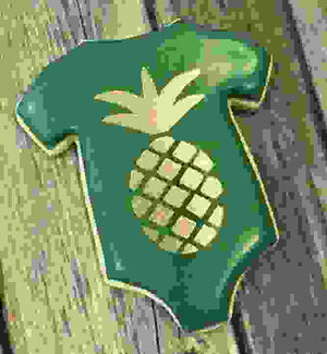 Pineapple Cookie Stencil bakeartstencil