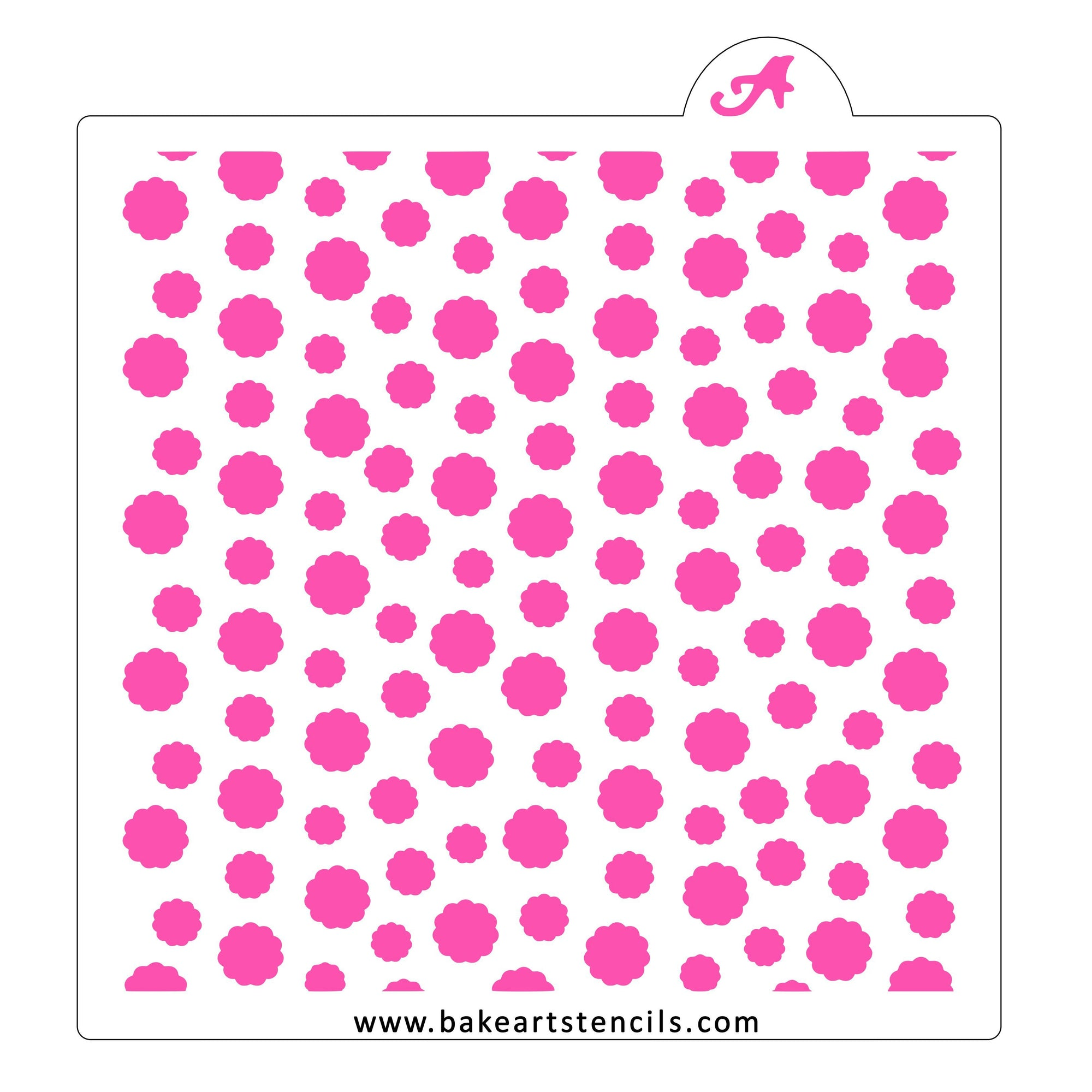 Puffy Polka Dots Cookie Stencil bakeartstencil