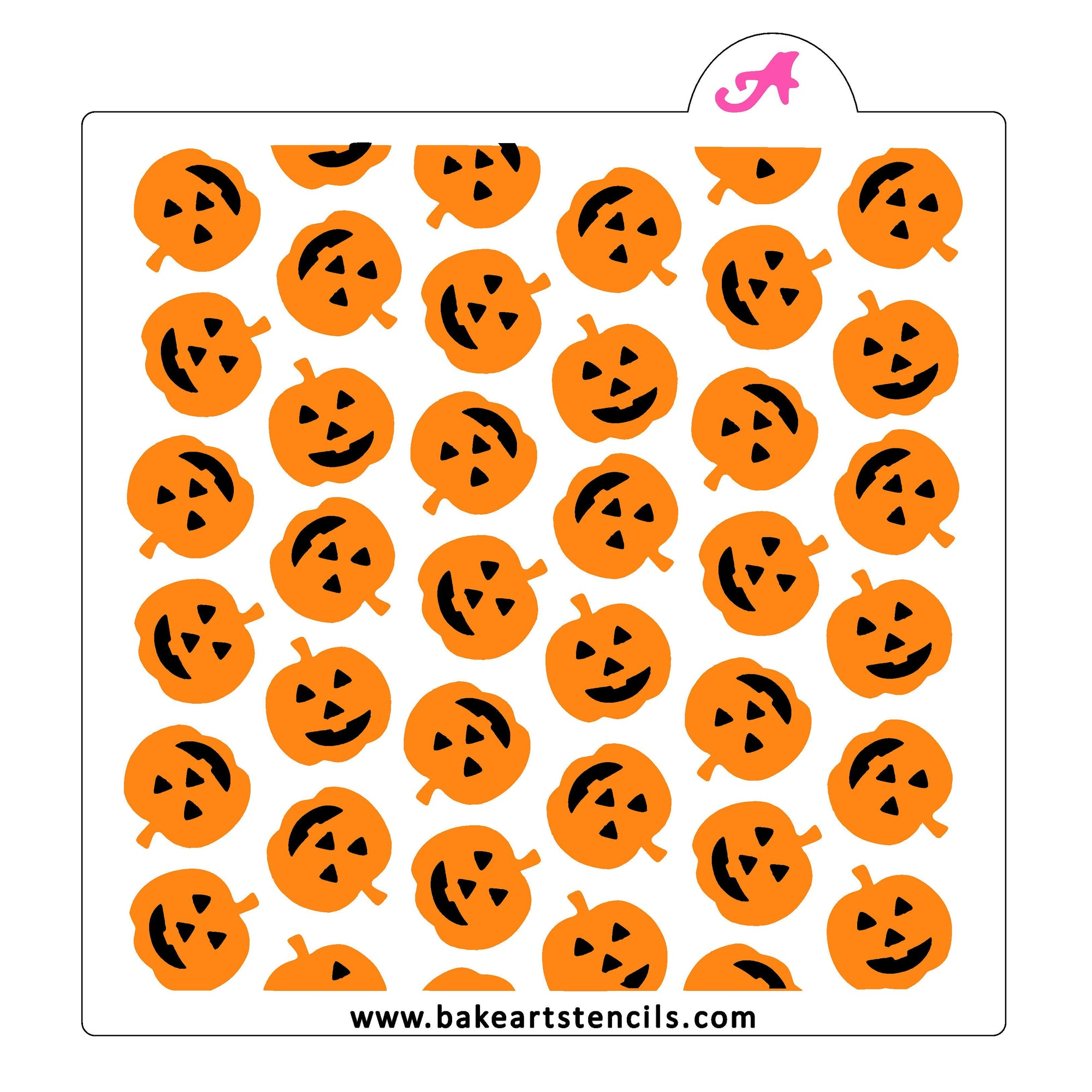 Pumpkin Faces Pattern Stencil Set bakeartstencil