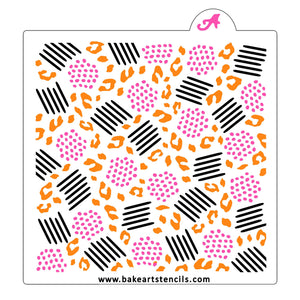 Safari Abstract Pattern Cookie Stencil, 3 piece Set