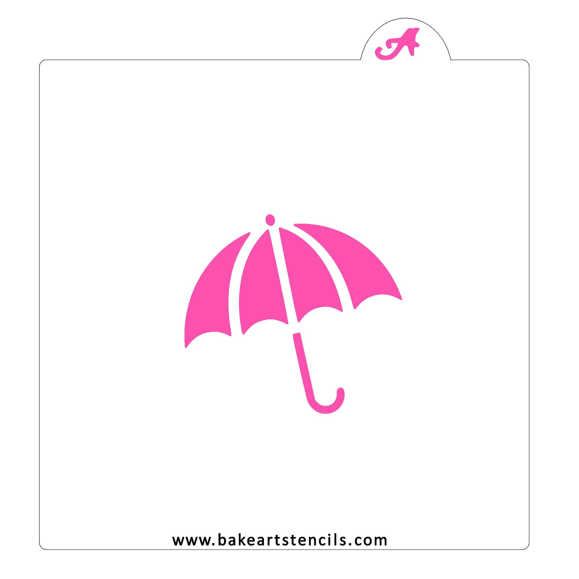 Umbrella Cookie Stencil bakeartstencil
