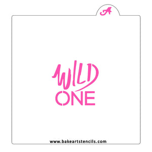 Wild One Cookie Stencil bakeartstencil