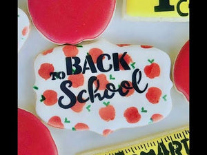 How to Decorate Back to School Cookies, Video Tutorial