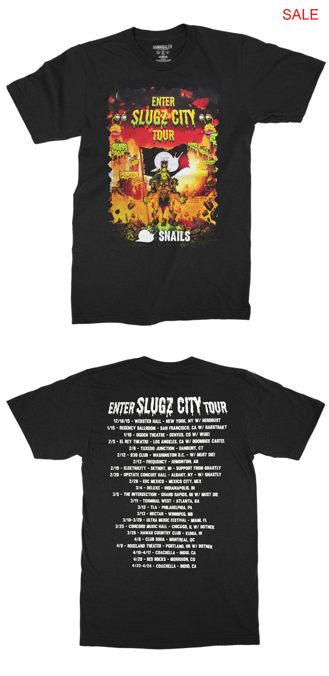 SNAILS Enter Slugz City Tour Tee