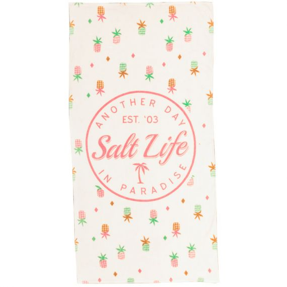 Salt life natural beach towel