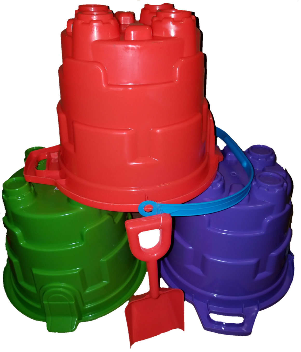 Kids' Beach 2 Gallon Sand Castle Bucket with Shovel