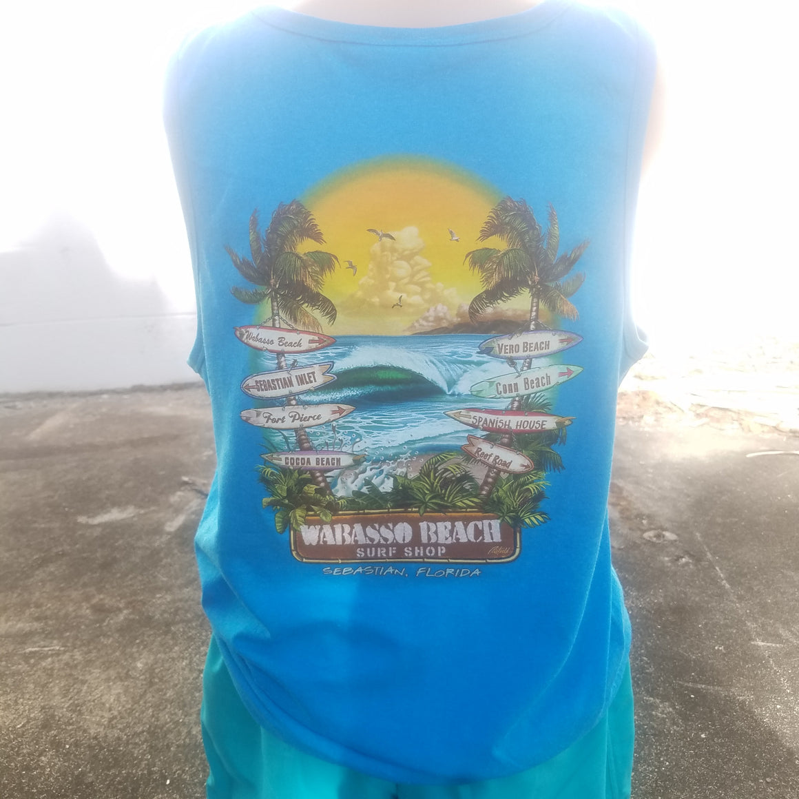 Sign Of The Times Tank Top Sebastian FL Wabasso Beach Shop