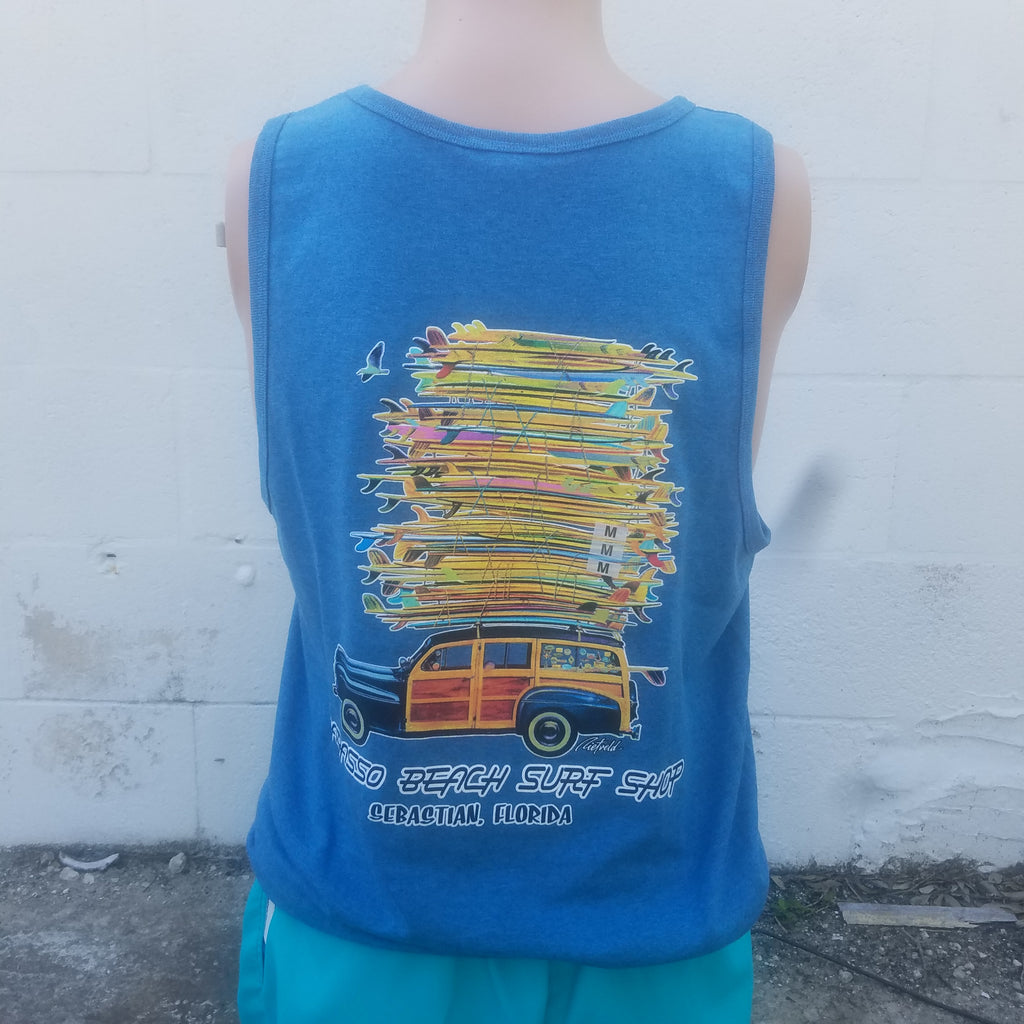 "Wabasso Beach Surf Shop Men's ""Got Boards"" Tank Top Sebastian, FL"