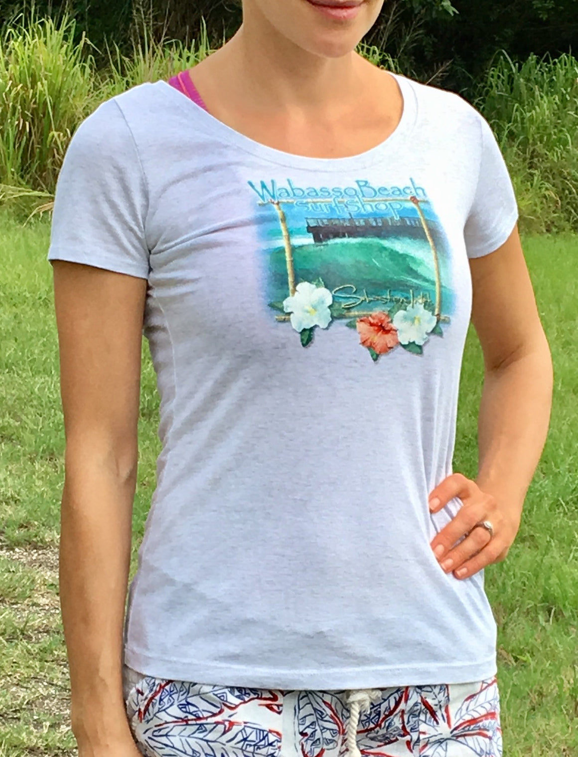 "WBs Ladies ""Sebastian Inlet"" Scoop Neck"
