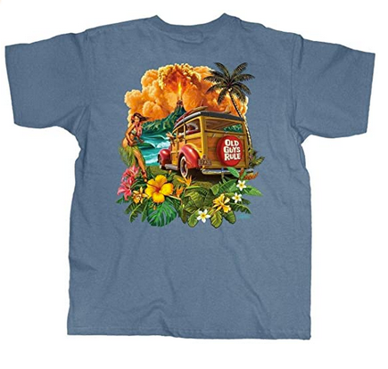 Old Guys Rule Hula Woodie T-Shirt