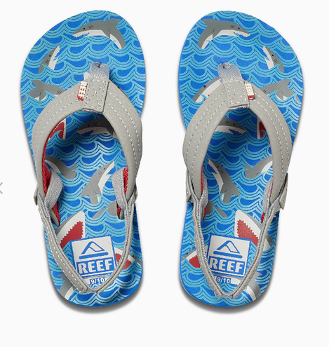 REEF Boys Little Ahi Sandals Flip Flops