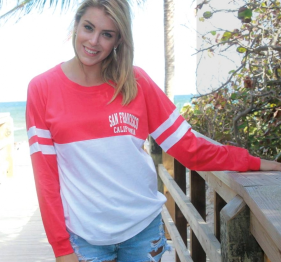 Vero Beach Florida Crew Neck Long Sleeve 2 Color Spirit T-Shirt