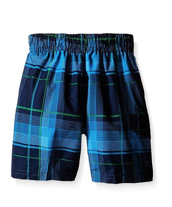 Kanu Surf Boys Youth Swim Shorts Plaid