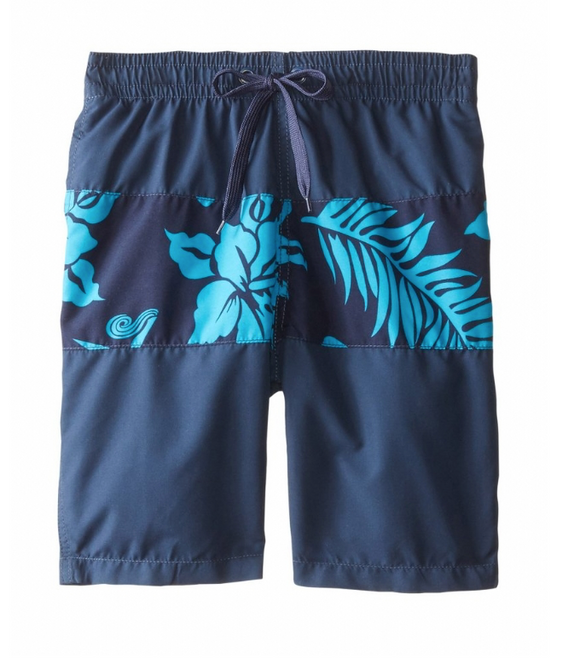 Kanu Surf Kids Boys Swim Shorts Boardshorts Elastic Waist Key Largo Navy