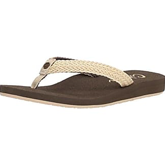 Cobian Women's Lalati Sandals Flip Flops Cream