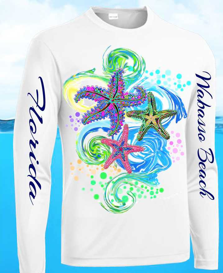 Long Sleeve Sun Protection Shirt UPF 30 Wabasso Beach FL