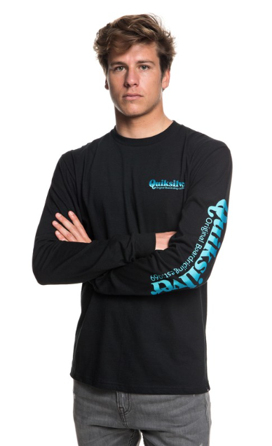 Quiksilver Men's Twin Fin Blend Long Sleeve Tee T-shirt