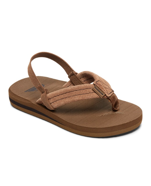 Quiksilver Kids' Boys Carver Suede Leather Sandals Flip Flops