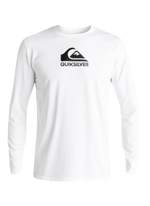 Quiksilver Men's Solid Streak Long Sleeve UPF 50 Rash Guard Surf Tee