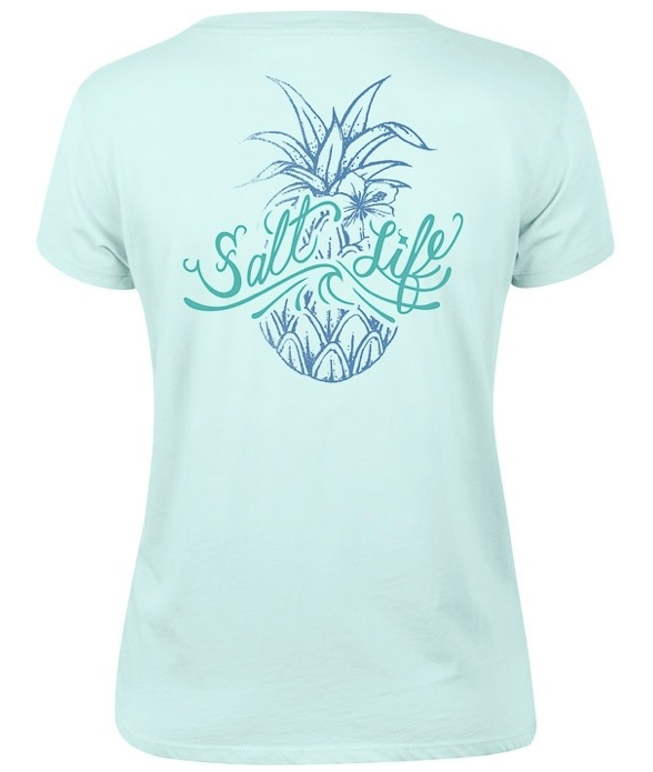 Salt Life Women's Signature Pineapple Boyfriend Tee T-Shirt