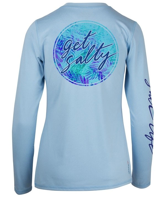 Salt Life Women's Get Salty Long Sleeve Performance Sun Shirt UPF30
