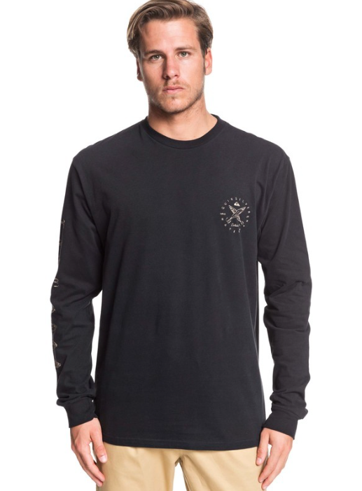 Quiksilver Men's Waterman Lure Me In Long Sleeve Tee T-shirt