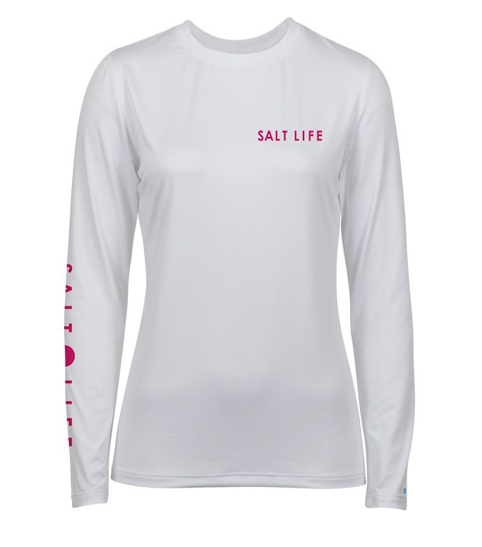 Salt Life Women's Oasis Badge Performance Long Sleeve Top Tee