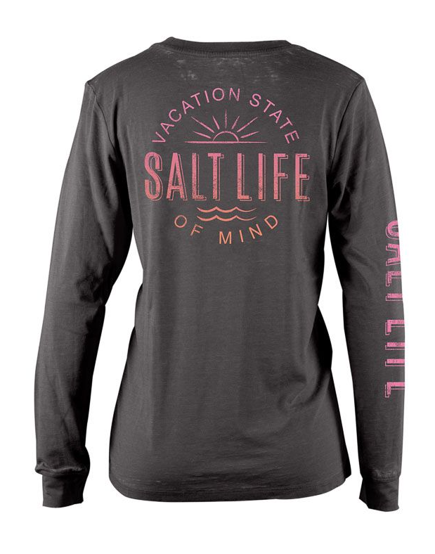 Salt Life Women's Vacation State Boyfriend Fit Long Sleeve Tee T-Shirt