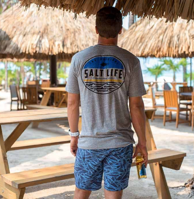 Salt Life Men's Finz Badge Tri-Blend T-Shirt Tee