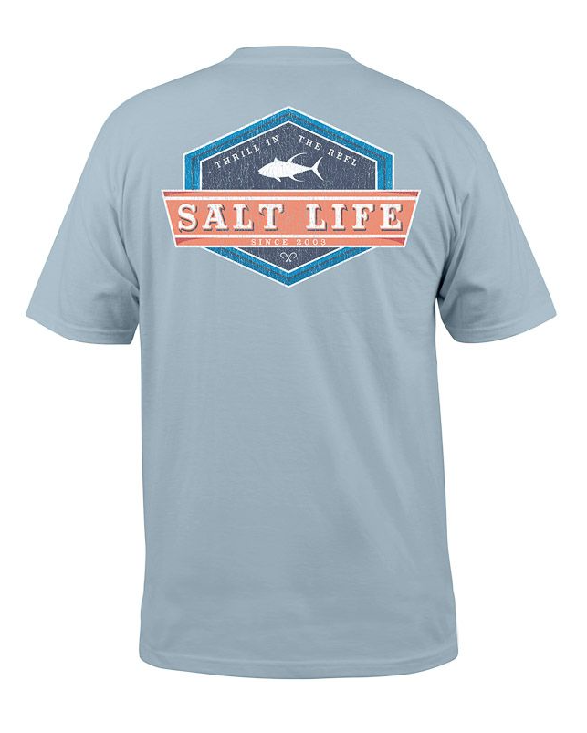 Salt Life Men's Lock Down Short Sleeve Pocket Tee T-Shirt