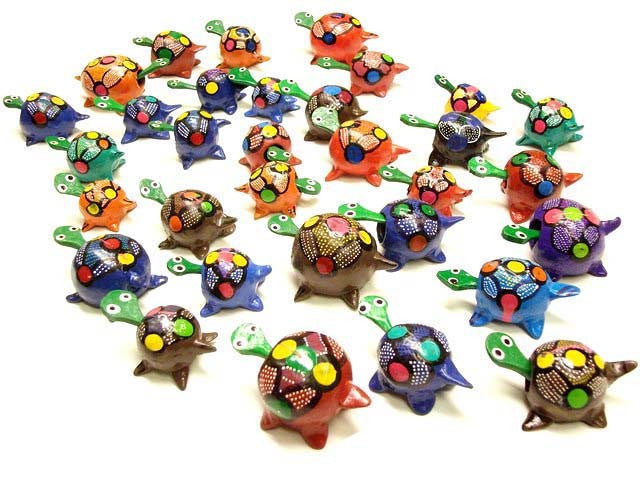 Painted Bobble Head Turtles