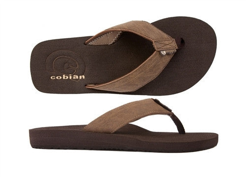 Cobian Men's Floater Mocha Sandals Flip Flops