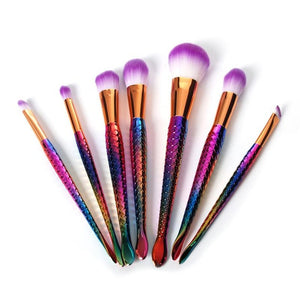 Mermaid Makeup Brushes (7 Pieces)