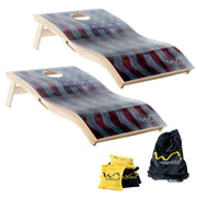 Warphole® American Flag Premium Set - 4' x 2' Tournament Size
