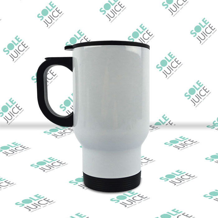 Stainless Steel Travel Mug (White)