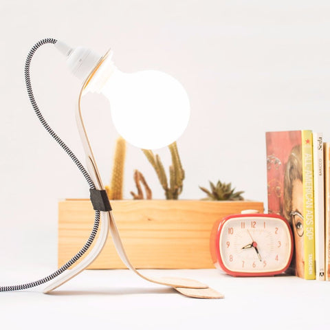 Modern Nordic Wood Table Lamp by Oitenta on OOSTOR.com