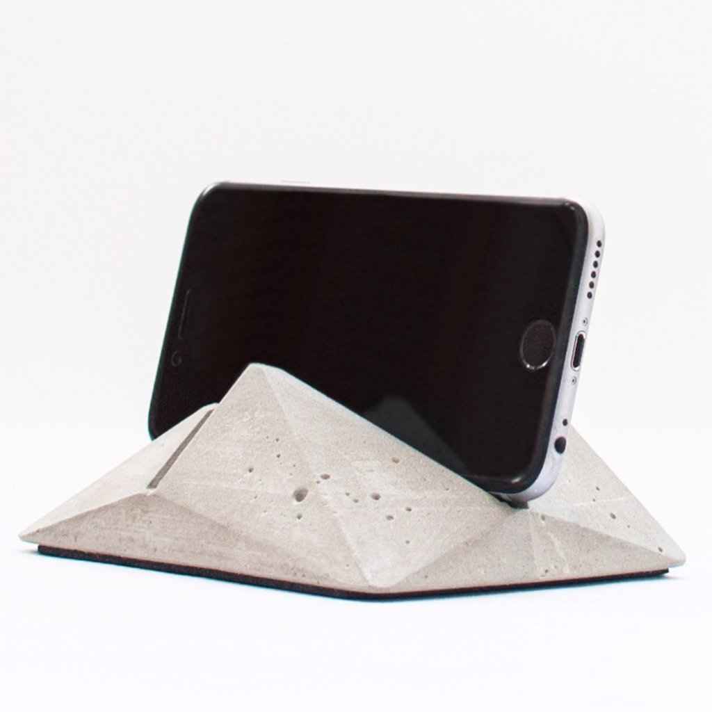 Geometric Concrete Phone & Tablet Stand by Oitenta on OOSTOR.com