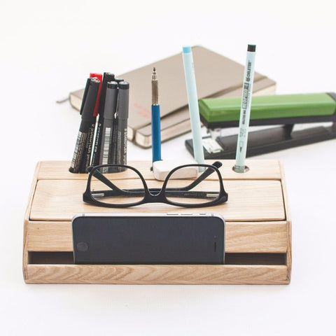 Natural Wood Desk Organizer by Oitenta on OOSTOR.com